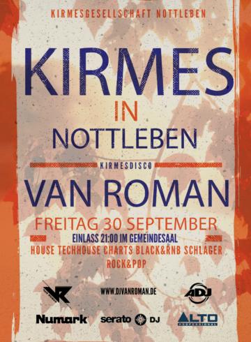 Kirmesdisco Nottleben mit DJ Van Roman