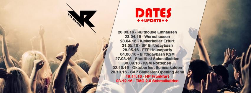 Dates 2016