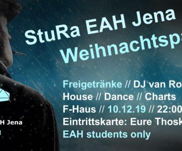 StuRa EAH Jena Weihnachtsparty mit DJ Van Roman